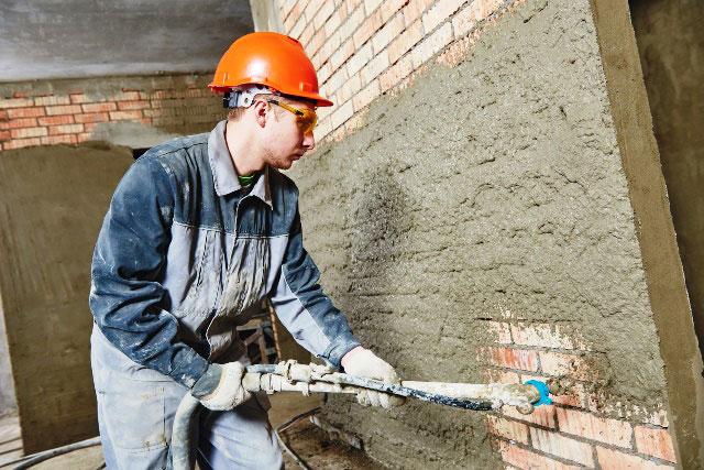 Wąż do nakładania tynku w branży budowlanej